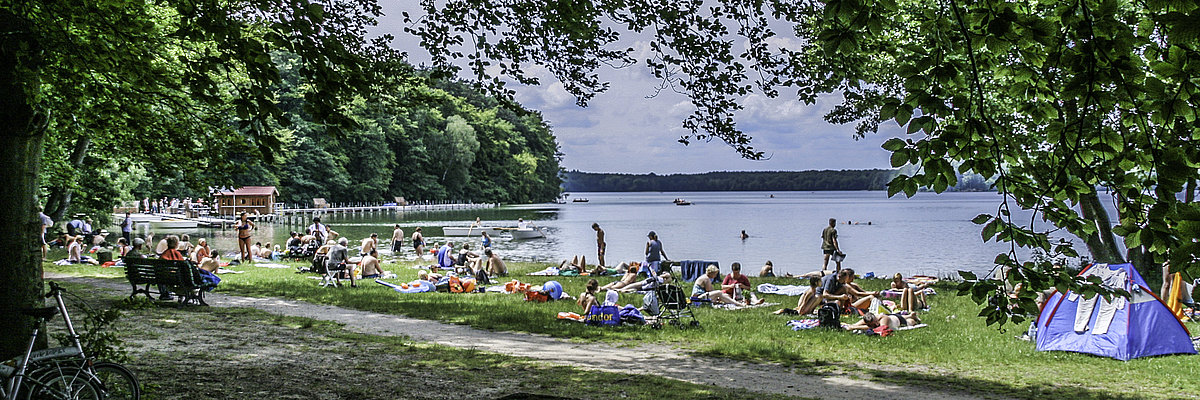 Neuglobsow Großer Stechlinsee Badestrand